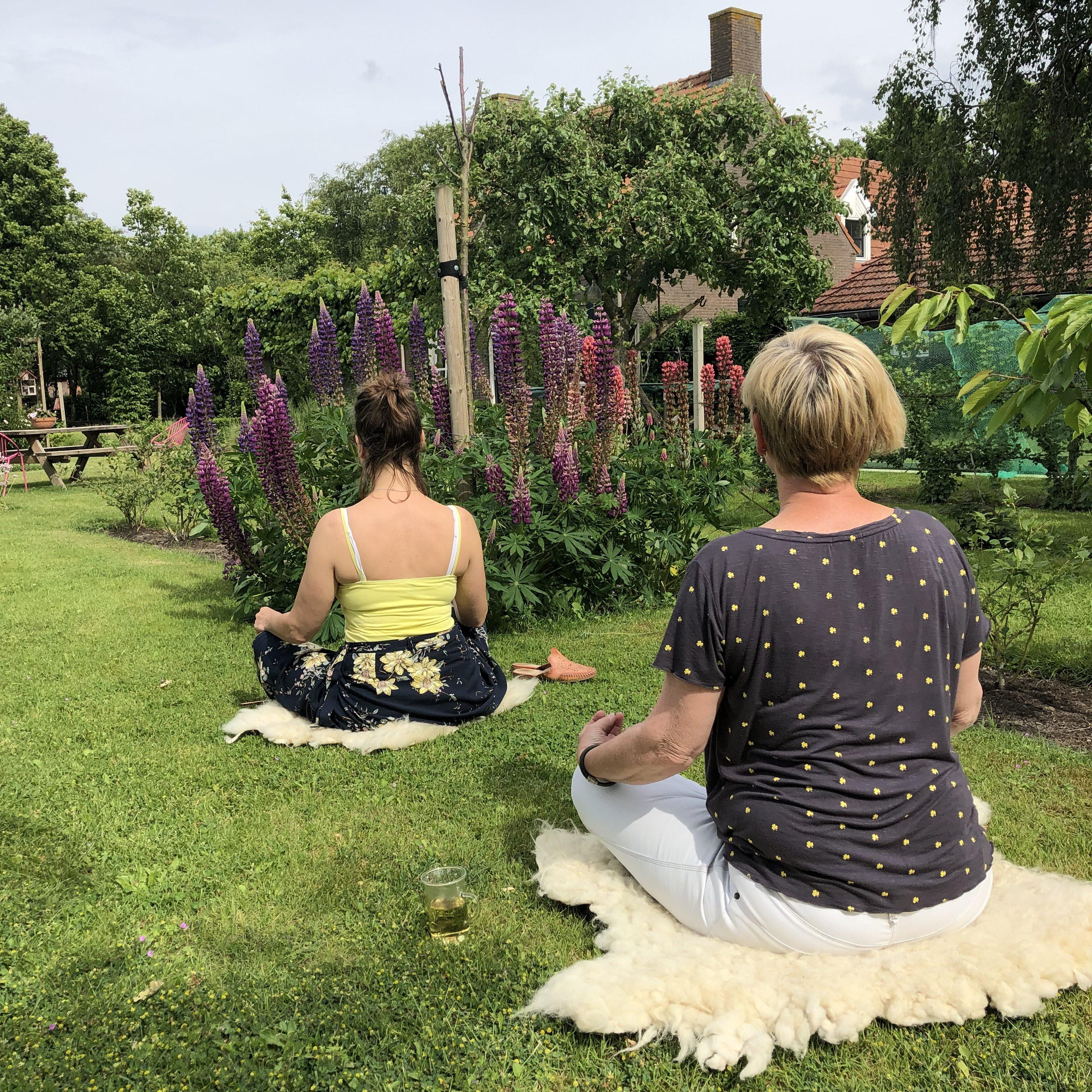 retraite in de tuin